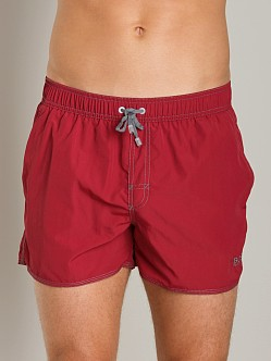 Hugo Boss Lobster Swim Shorts Burgundy