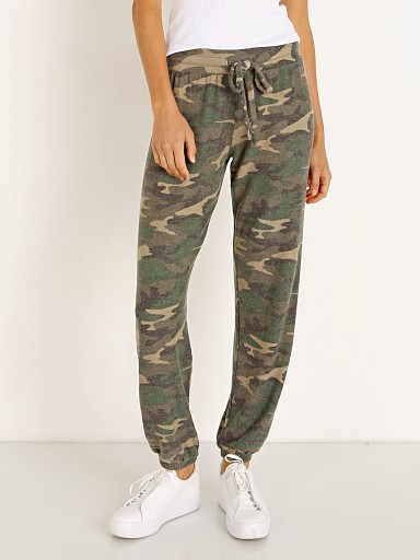 Model in camo LNA Clothing  Brushed Jogger