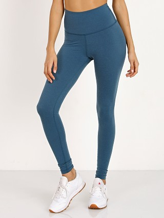 Beyond Yoga Plush High Waisted Long Legging Deep Sapphire Heathe