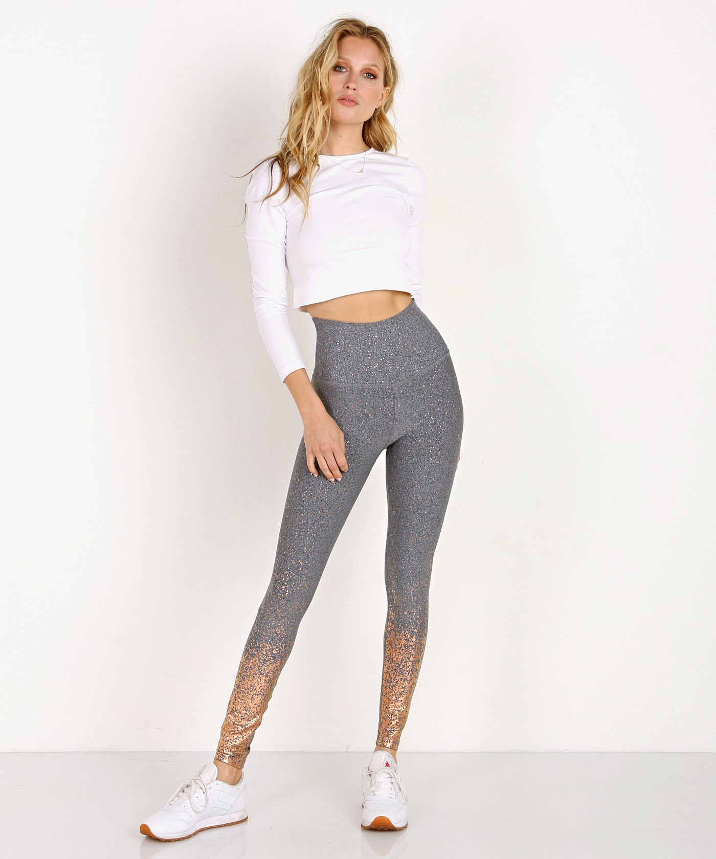 eabbd8e154 Beyond Yoga Alloy Ombre Sparkle High Waisted Midi Legging SF3243 - Free  Shipping at Largo Drive