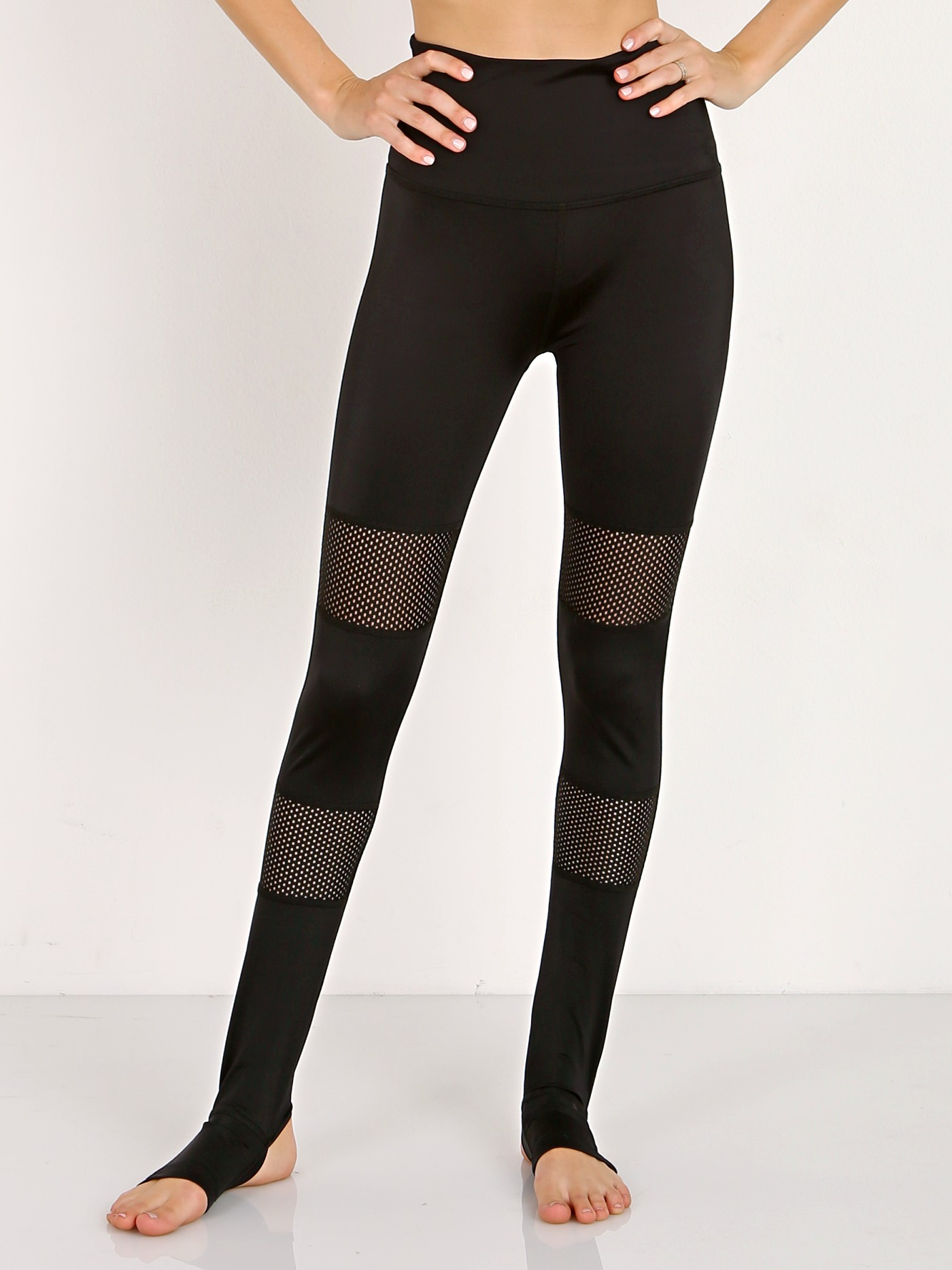 2d1a1debb5f74 Beyond Yoga Blocked Out High Waisted Stirrup Legging Black CL3269 - Free  Shipping at Largo Drive