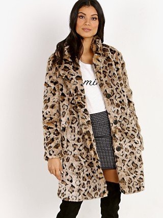 BB Dakota Rooney Leopard Faux Fur Coat