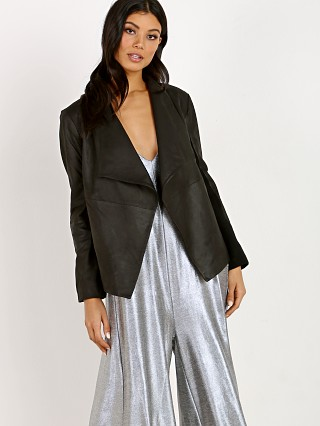 BB Dakota Rowe Soft Lamb Drape Front Jacket