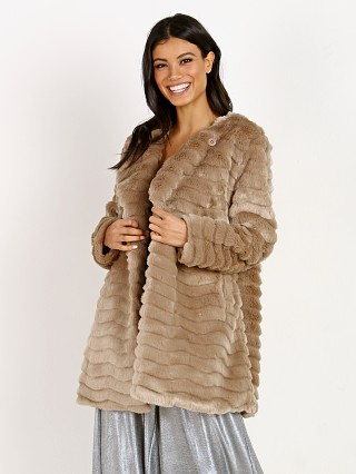 BB Dakota Mccoy Textured Faux Fur Coat