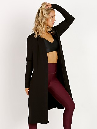 Beyond Yoga Cozy Fleece High Slits Long Duster Black