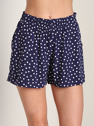Three Dots Polka Dot Shorts Evening Blue