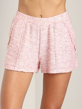 Three Dots Nautical Boucle Shorts Haute Red