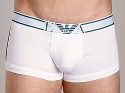 Emporio Armani Pima Rib Stretch Cotton Trunk White
