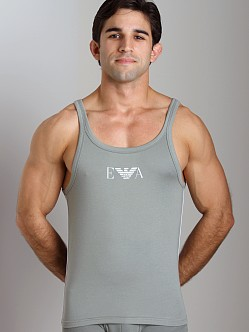 Emporio Armani Pima Rib Stretch Cotton Tank Top Sage