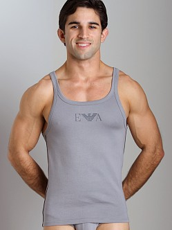 Emporio Armani Pima Rib Stretch Cotton Tank Top Mastic