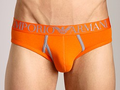 Emporio Armani Contrast Stretch Cotton Brief Orange