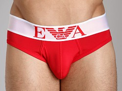 Emporio Armani Basic Stretch Microfiber Brief Red