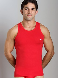 Emporio Armani Basic Stretch Cotton Tank Top Red