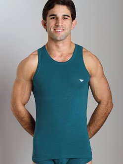 Emporio Armani Basic Stretch Cotton Tank Top Peacock
