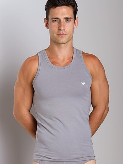 Emporio Armani Basic Stretch Cotton Tank Top Mastic