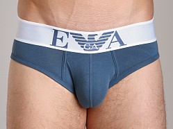 Emporio Armani Basic Stretch Cotton Brief Smokey Blue