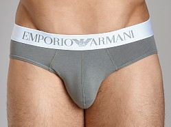 Emporio Armani Basic Stretch Cotton Hip Brief Sage