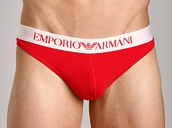 Emporio Armani Basic Stretch Cotton Thong Red