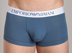 Emporio Armani Basic Stretch Cotton Trunk Smokey Blue