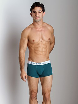 Emporio Armani Basic Stretch Cotton Trunk Peacock
