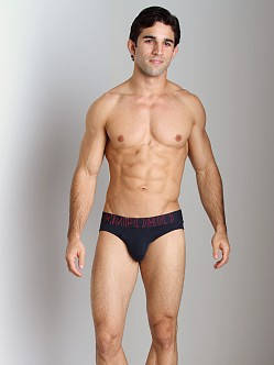 Emporio Armani Big Logo Vintage Stretch Cotton Brief Marine