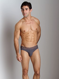 Emporio Armani Big Logo Vintage Stretch Cotton Brief Grey
