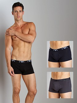 Emporio Armani Genuine Cotton 3-Pack Trunk Black/Grey/Marine