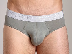 Emporio Armani Soft Cotton Brief Sage