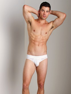 Emporio Armani Big Eagle Printed Stretch Cotton Brief White