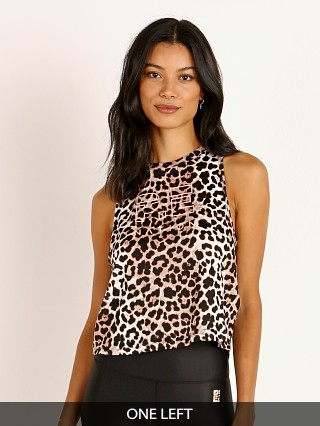 PE NATION Bar Down Tank Leopard Print