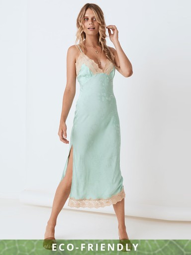 Spell & The Gypsy Ocean Lace Slip Dress Seafoam