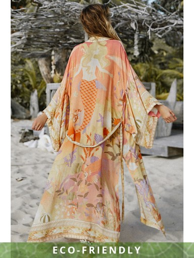 Spell & The Gypsy Madison Maxi Robe Coral