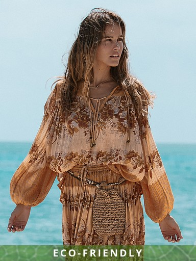 Spell & The Gypsy Coco Lei Blouse Caramel