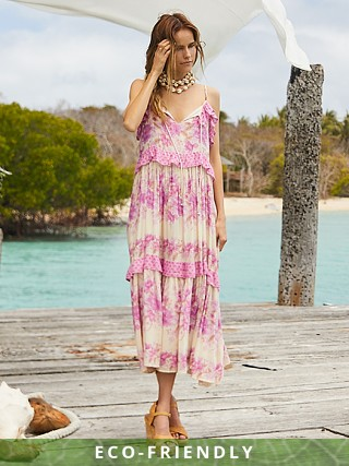 Spell & The Gypsy Coco Lei Strappy Gown Lilac
