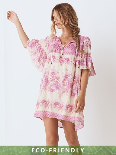 Spell & The Gypsy Coco Lei Flutter Sleeve Tunic Lilac