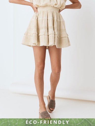 Spell & The Gypsy Hanalei Mini Skirt Sand