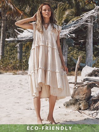 Spell & The Gypsy Hanalei Midi Dress Sand