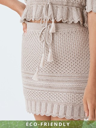 Spell & The Gypsy Atlantic Crochet Mini Skirt Shell
