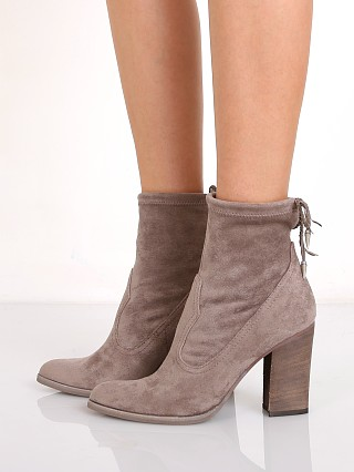 Model in grey Dolce Vita Casee Bootie