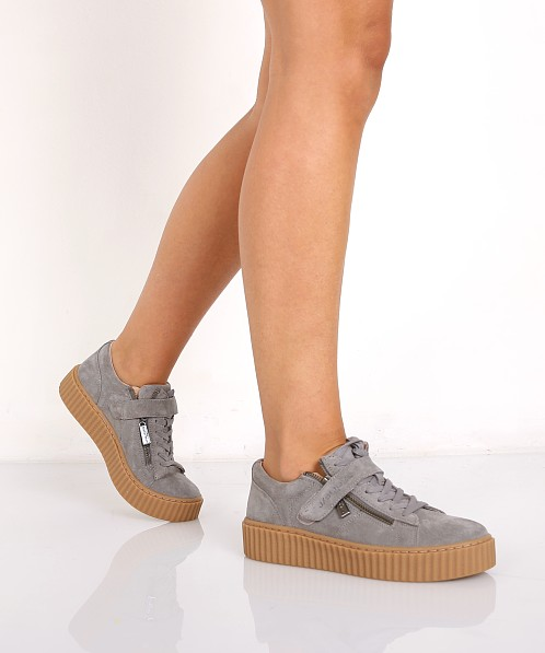 J Slides Papper Sneaker Grey PAPPER - Free Shipping at Largo Drive d6e0dd7241b5