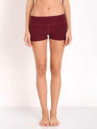 Beyond Yoga Spacedye Hot Yoga Short Black Merlot