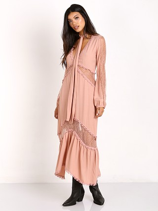 For Love & Lemons Lilou Midi Dress Dusty Rose