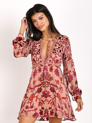 For Love & Lemons Saffron Mini Dress Sunset Floral