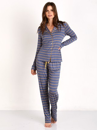 Splendid Long PJ Set Double Stripe
