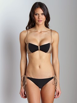 Camilla and Marc Bandeau Noveau Color Bikini Black
