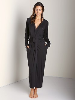 Calvin Klein Long Robe Black