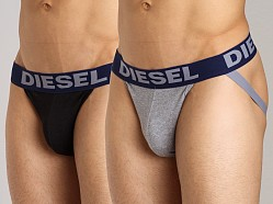 Diesel Jocky Jockstrap 2-Pack Black/Grey