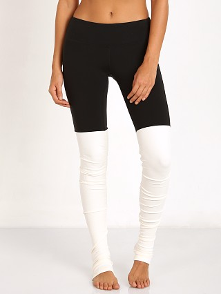 alo Goddess Ribbed Legging Black/Natural