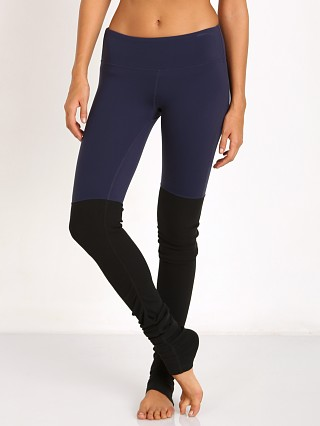 alo Goddess Ribbed Legging Rich Navy/Black
