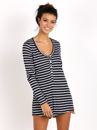 Show Me Your Mumu Overnight Onesie Marina Stripe